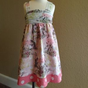 Baby Nay Toile Polkadot Scenic Girls Dress 3T LN